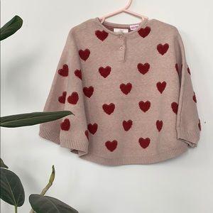 Heart Sweater poncho